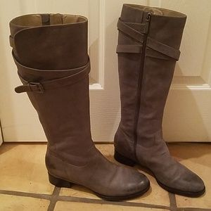 593caf20c23 Ecco Grey Leather Knee-high Boots